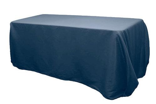 "Navy Blue Polyester 90x156"" Oblong Linen"