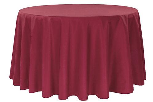 """Burgundy Polyester 120"""" Round Linen"""