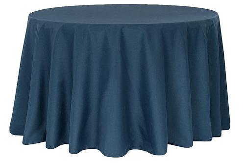 "Navy Blue Polyester 120"" Round Linen"