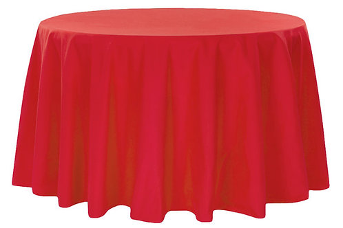 """Red Polyester 120"""" Round Linen"""