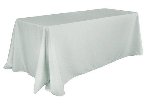 "Silver Polyester 90x132"" Oblong Linen"