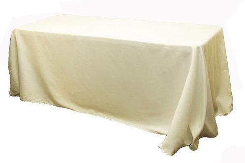 "Ivory Polyester 90x156"" Oblong Linen"
