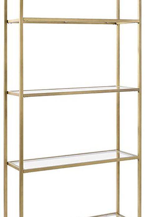 Gold and Glass Etagere Bookcase