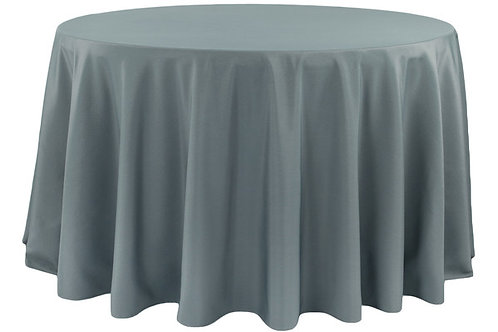 """Pewter Polyester 120"""" Round Linen"""