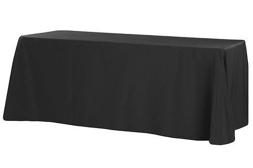 """Black Polyester 90x132"""" Oblong Linen"""