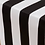 "Thumbnail: Black and White Satin Stripe 120"" Round Linen"