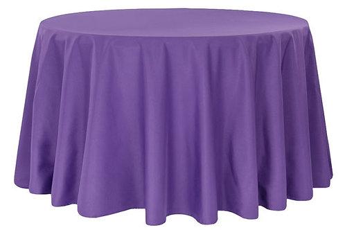 """Purple Polyester 120"""" Round Linen"""