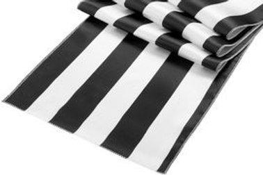 Black and White Stripe Table Runner