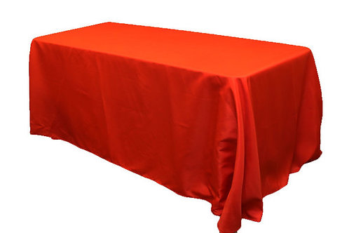 "Red Polyester 90x156"" Oblong Linen"