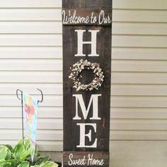 Panneau décoratif bois foncé HOME