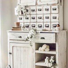 Buffet campagne chic blanc