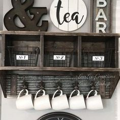 Panneau étagère Tea and Coffee