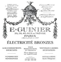 Publicité vintage Guinier - inspiration XIX° - Prix : 34 €