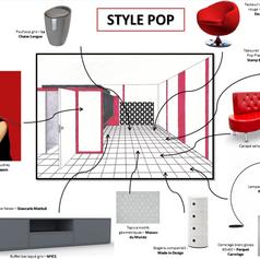 Un intérieur style pop