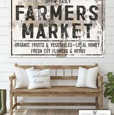 Panneau décoratif blanc Market