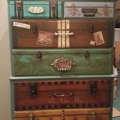 Relooking meuble Pinterest commode en valise