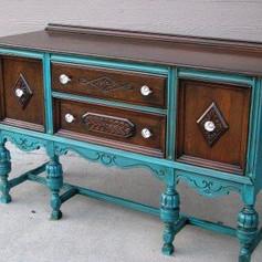 Relooking meuble Pinterest bleu