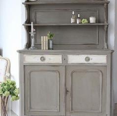 Relooking meuble Pinterest gris et blanc shabby