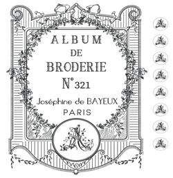 Album de broderie - Inspiration XIX°