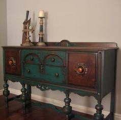 Relooking Pinterest bleu vert et bois
