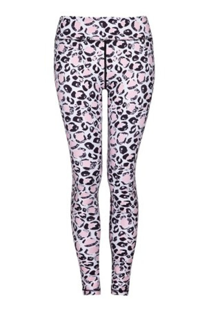 BABY PINK LEOPARD – YOGA LEGGINGS – HIGHER WAISTED
