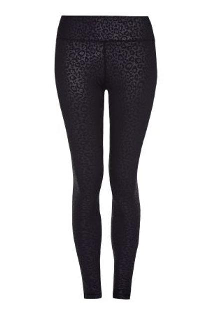 ECLIPSE – HIGHER WAISTED BLACK LEOPARD PRINT LEGGINGS – FULL LENGTH