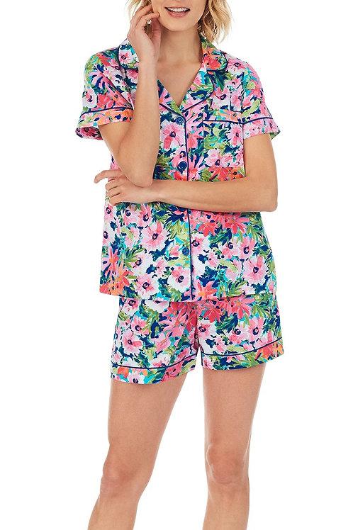 Garden Blooms Floral Women's Cotton Pajama Set