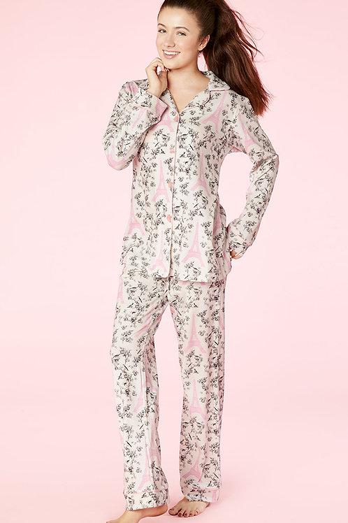 Eiffel Toile Women's Stretch Pajama
