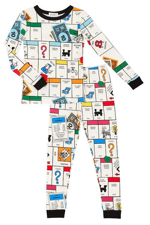Kids' Monopoly Board Stretch Pajama Set