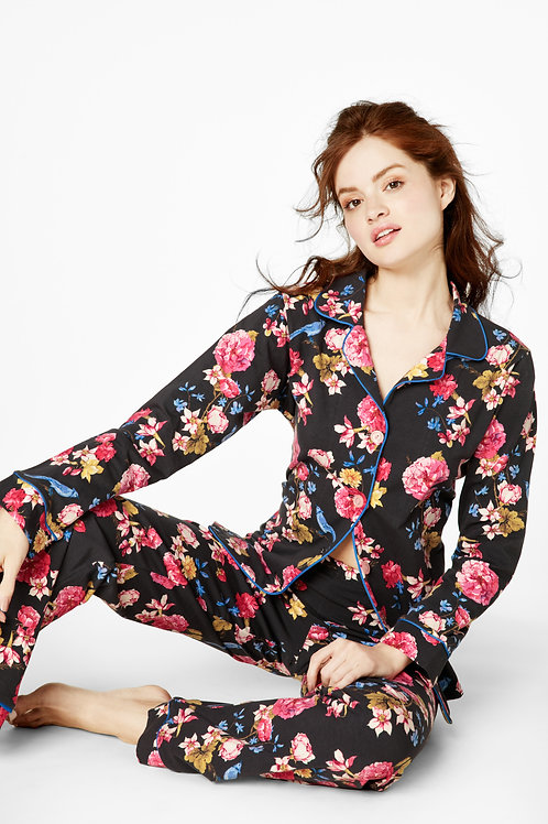 Blue Jay Floral Women's Stretch Pajama