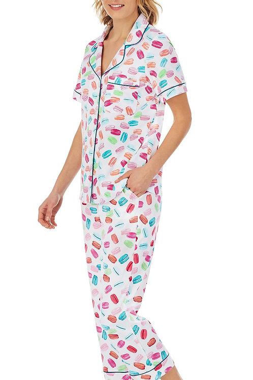 Macarons Women's Stretch Capri Pajama Set
