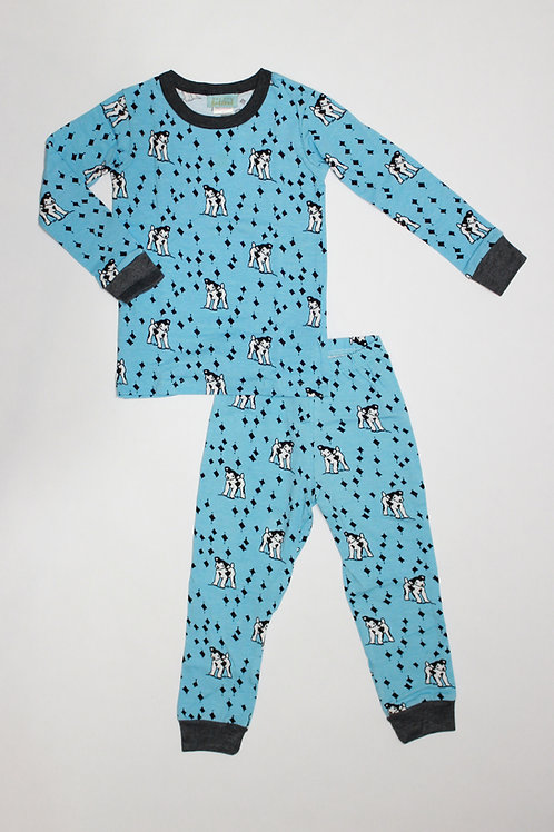 Kids Puppy Blue Pajama Set