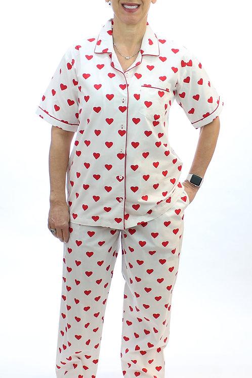 Hearts Cotton S/S Pajamas