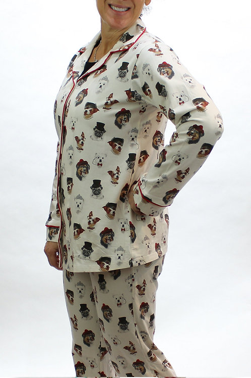 Debonair Dogs Women's Stretch Pajama Set