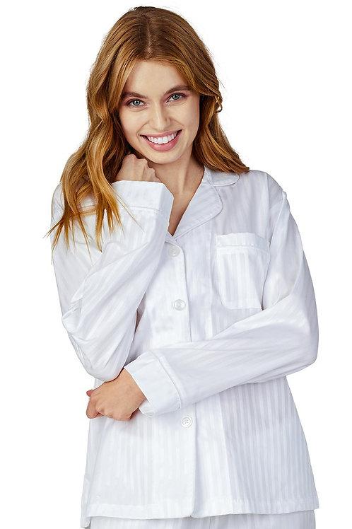 Jacquard Stripe Women's Cotton Pajama Set