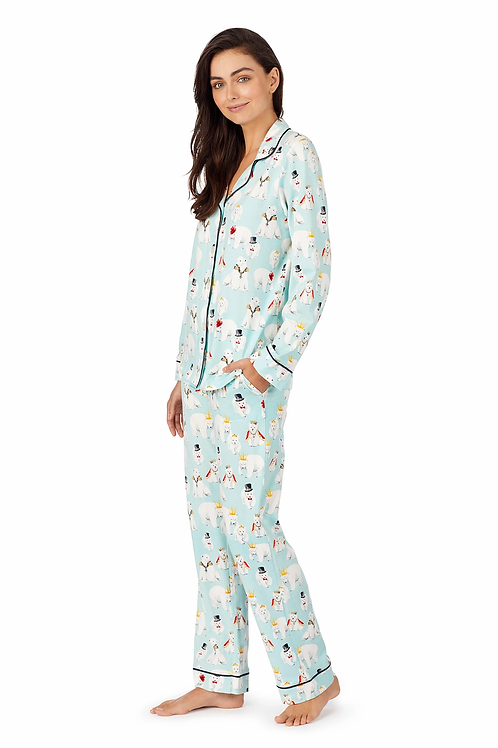 Polar Bears Women's Stretch Pajama Set
