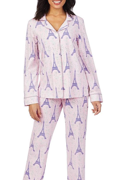 Pink Eiffel Women's Stretch Pajama Set