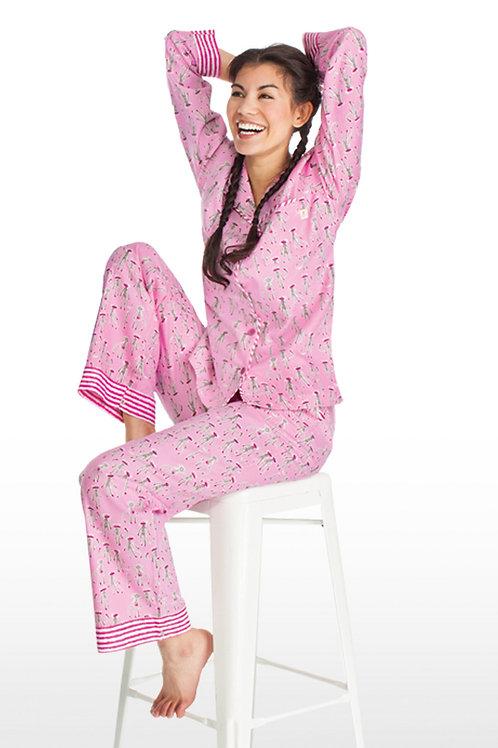 Pink Sock Monkey Women's Flannel Lounger