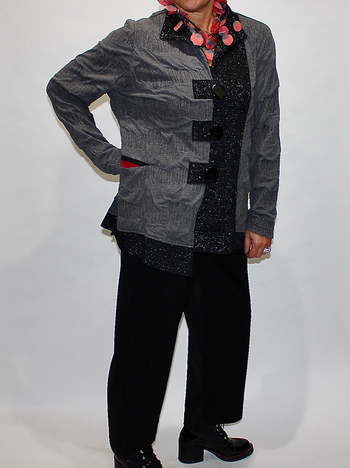 knit 3 button sweter jacket