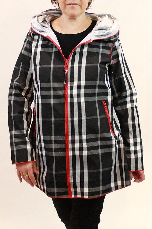 Red Zip Hooded Jacket