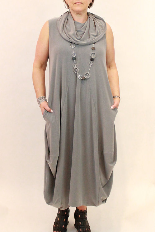 Sympli Sleeveless Dream Dress Silver