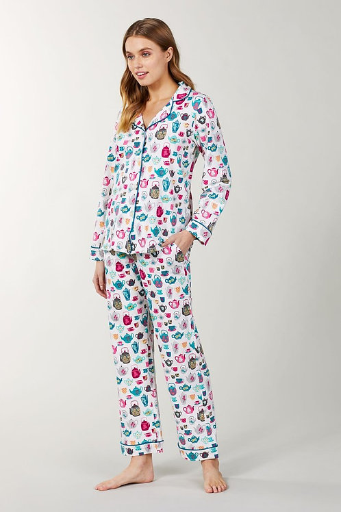 Tea Drinker Women's Stretch Pajama Set (XS only)