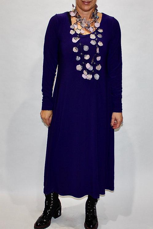 sympli go to long sleeve dress blackberry