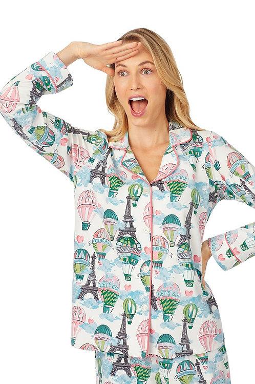 Up and Away Eiffel Women's Stretch Pajama Set