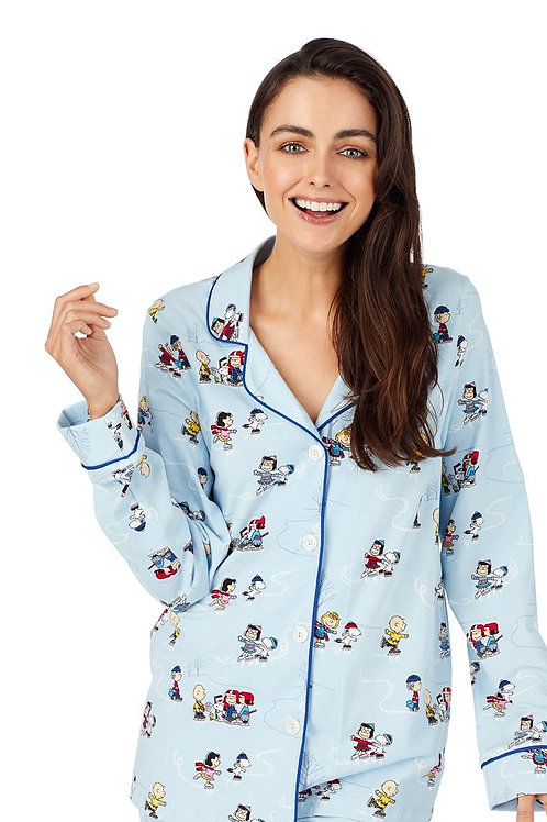 Peanuts on Ice Women's Stretch Pajama