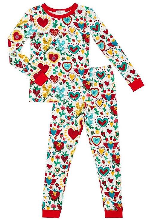 Kids' Sacred Hearts Stretch Pajama Set