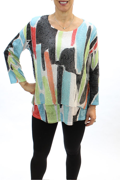 Layered abstract top