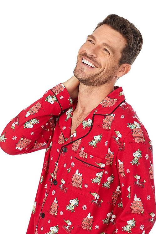 Snoopy Men's Stretch Pajama Set