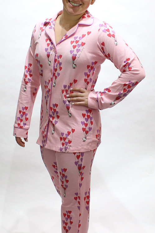 Hello Kitty Women's Stretch Pajama Set