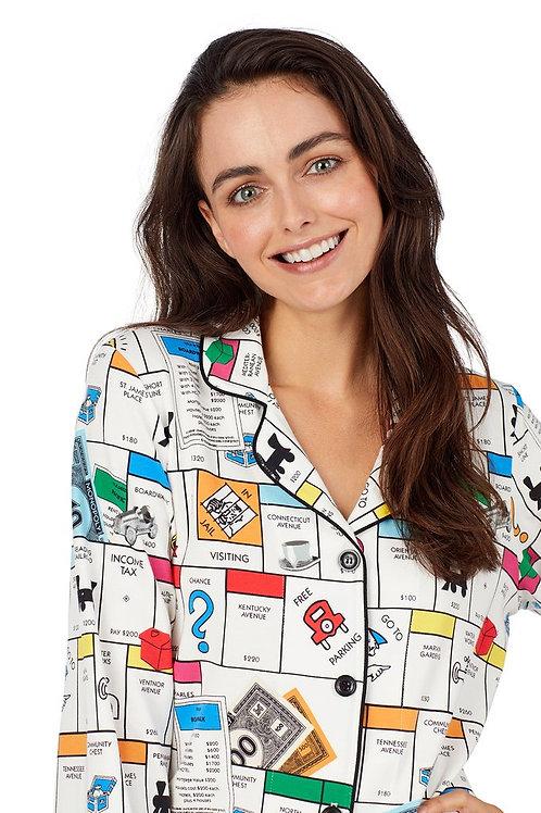 Monopoly Women's Stretch Pajama Set